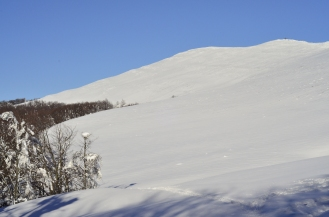 Widok na Smerek ze szlaku na prz. Orłowicza